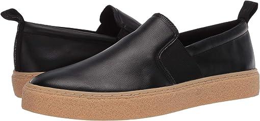 Black/Small Grain Leather