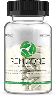 Ultimate Nutrition REM Zone Sleep Aid with Melatonin - Natural Herbal Sleeping Supplement - Fall Asleep