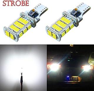Alla Lighting 2600lm 912 921 LED Strobe Bulbs Xtreme Super Bright 4014 48-SMD W16W T10 T15 921 Strobe Flashing Backup Reverse Brake Stop Light, 6000K Xenon White