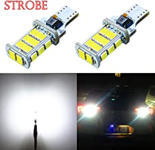 Alla Lighting 2600lm 912 921 LED Strobe Bulbs CAN-BUS Xtreme Super Bright 4014 48-SMD W16W T10 T15 921 Strobe Flashing Backup Reverse Brake Stop Light, 6000K Xenon White