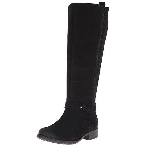 9e1002d4dba6 Black Suede Women s Riding Boots  Amazon.com