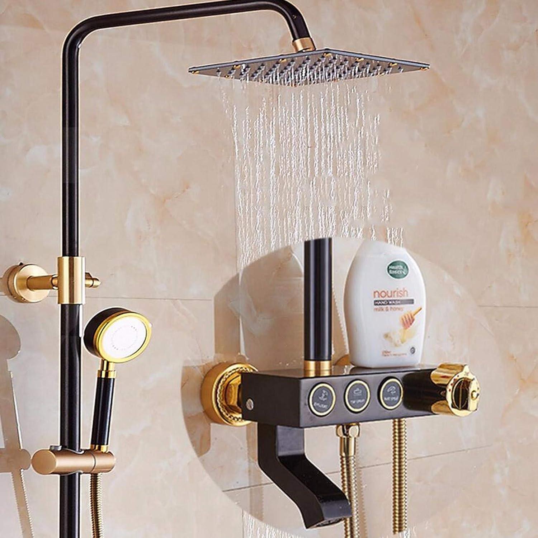 Duschset Weltraum - Aluminium - Dusche Konstanter Temperatur Sprinkler Mischen Ventil Offenen Duschen Duschen Duschen Setzen,K