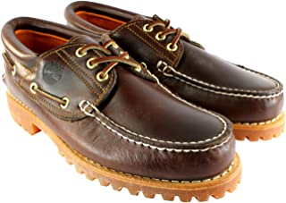 Mens Heritage Classic Lug Leather Lace Up Boat Shoe