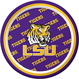 Creative Converting LSU Tigers Dessert Paper Plates (8 Count)