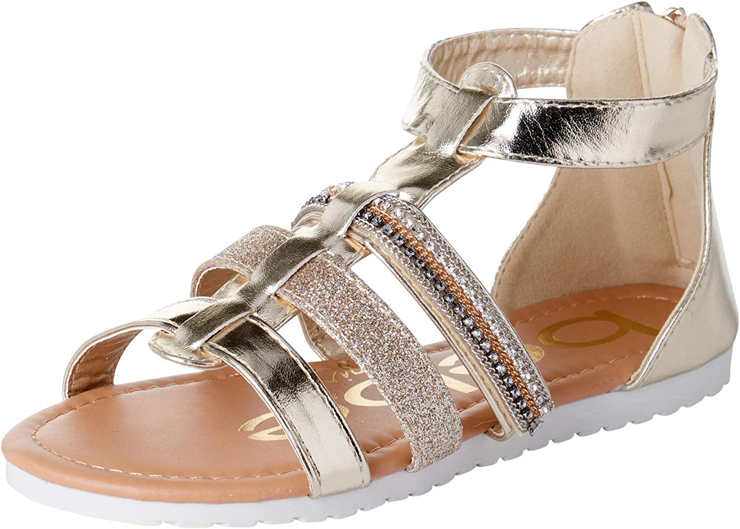 bebe Girls' Sandals - Strap Todd Selling and selling Gladiator Glitter Sacramento Mall