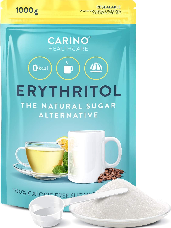 Erythritol polvo Sustituto del azúcar con cero calorías - 1kg ...