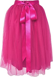 A Line Tulle Skirt Knee Length Tutu for Girls & Women