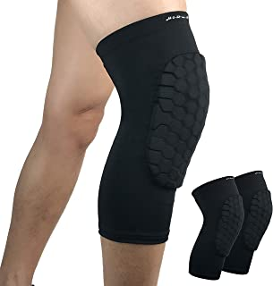 HiRui Knee Pads, Basketball Baseball Knee Brace Knee Support, Collision Avoidance Kneepad Compression Knee Sleeve for Volleyball Football Cycling Running, Youth&Adult-Unisex (Pair)