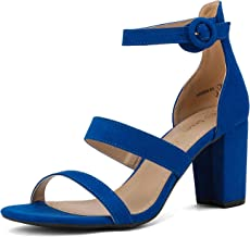DREAM PAIRS Women's Ankle Strap Dress Pump Low Chunky Heel Sandals