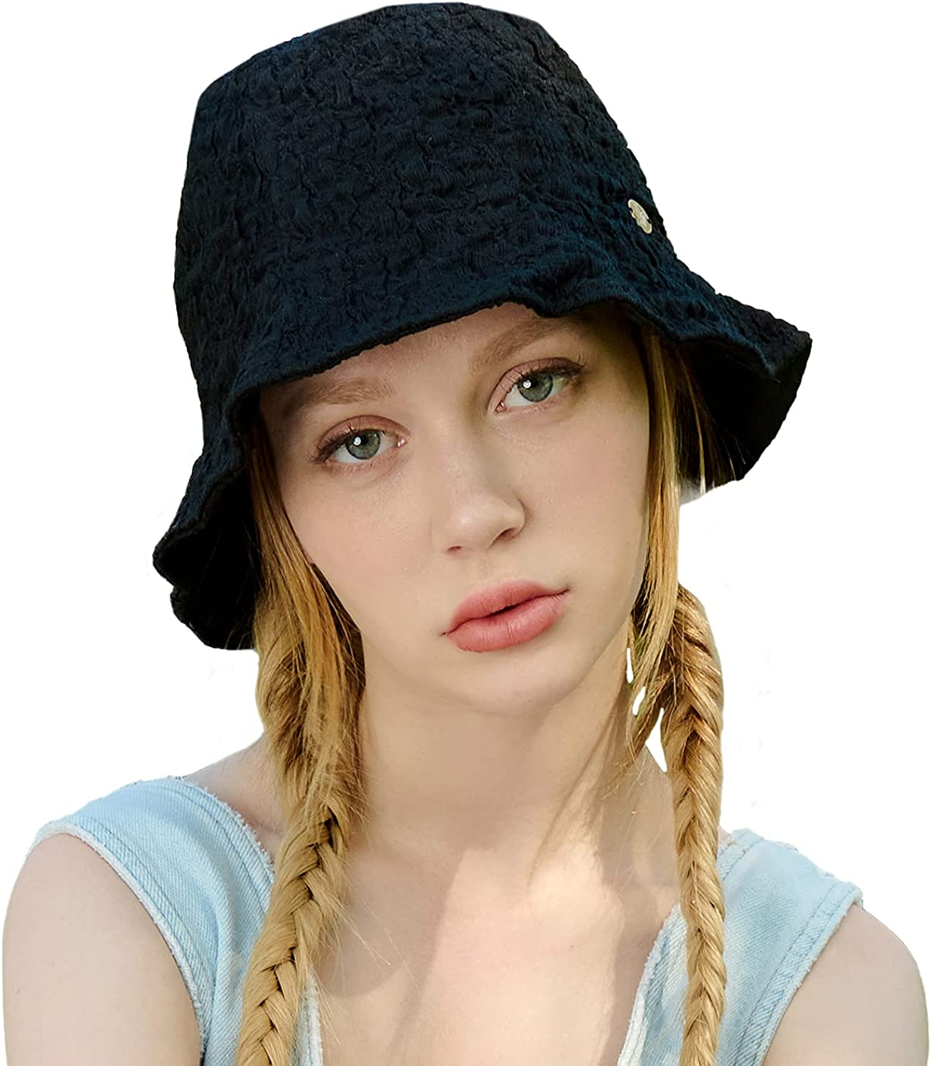 WHITE Fashionable SANDS MOJA Oakland Mall Bucket Hat Wrinkled