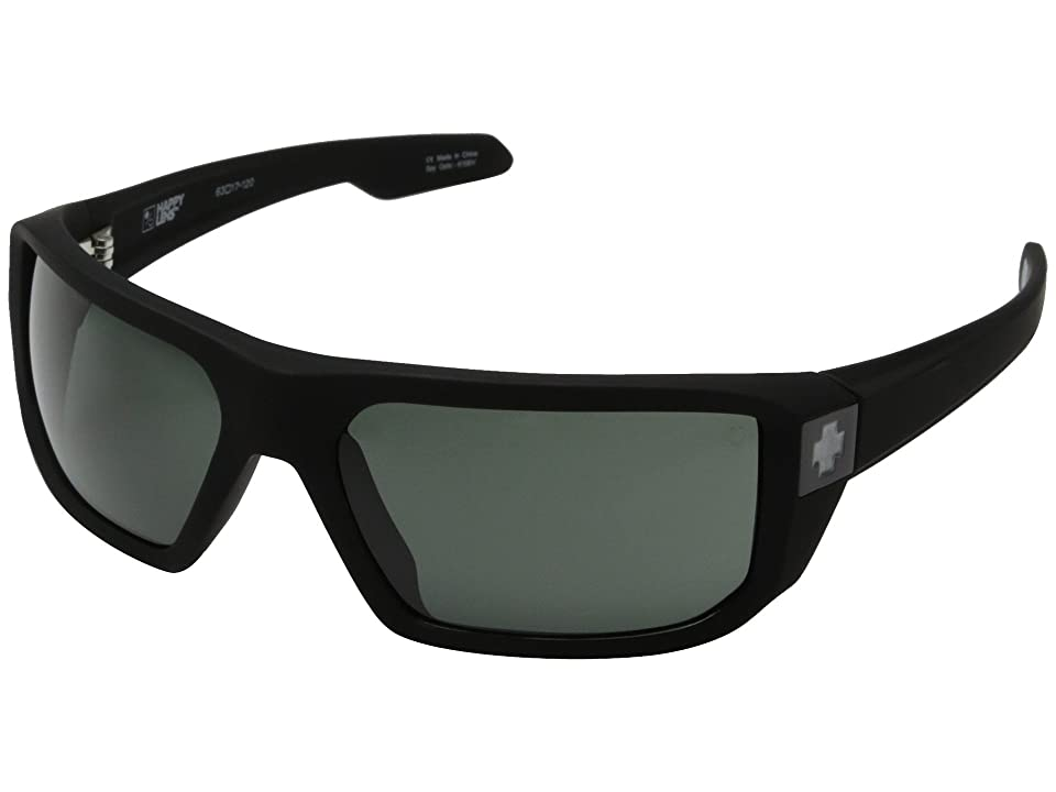 Spy Optic McCoy (Soft Matte Black/Happy Gray Green) Sport Sunglasses