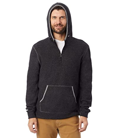 Alternative Eco-Teddy Outdoor 1/4 Zip Hoodie (Eco Black/Eco Grey) Men
