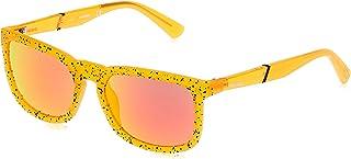 نظارة شمسية للجنسين من ديزل DL026244U56 - برتقالي/ خمري عاكس - مدمجة