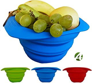 AVALEISURE Collapsible Bowl Set - 25 fl.oz/750ml - for Camping, RV, Backpacking, Travel – Space-Saving Dog Food & Water Bowl