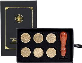 Kwaliteits zegellak 6 stks Retro Verf Seal DIY Envelop Stamps Rose Crown Tree Ornament Classic Wedding Uitnodigingen Wax S...