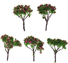homozy 5 PCS Model Flower Trees, Plastic Flowers Trees for Home Decoration, Miniature Landscape, Landform Diorama Project