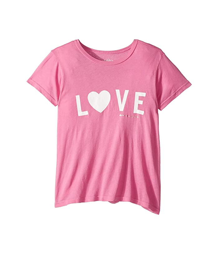 Spiritual Gangster Kids Love Tee (Toddler/Little Kids/Big Kids) (Passion Pink) Girl's T Shirt