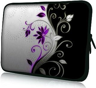 Luxburg® Design Funda blanda para ordenador portátil (15,6pulgadas, motivo: Torsión (de flores lilas-blanche