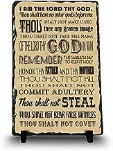 InspiraGifts The Ten Commandments | Christian Home Plaque | Religious Gift Inspirational Home Décor (King James Version, 8x12)