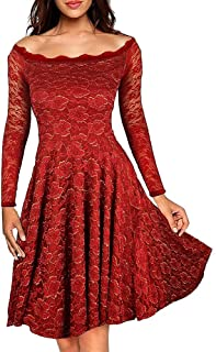 Special occasion wine red color dress for women