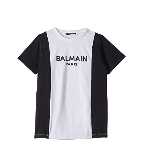 Balmain Kids Short Sleeve Rashguard (Big Kids)