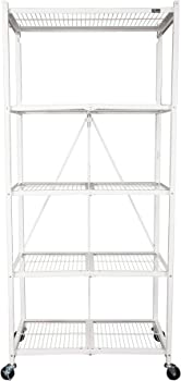 Origami 5 Tier Collapsible Household General Purpose Shelf (White)