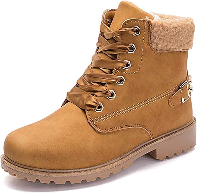 JJZZ Max 78% OFF Women Fur Lined Snow Shoes Boot L Super special price Ladies Warm Combat Winter