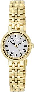 ساعة سيكو كوارتز للنساء، ذات قرص أبيض وبسوار من الفولاذ المقاوم للصدأ - SRZ464P1