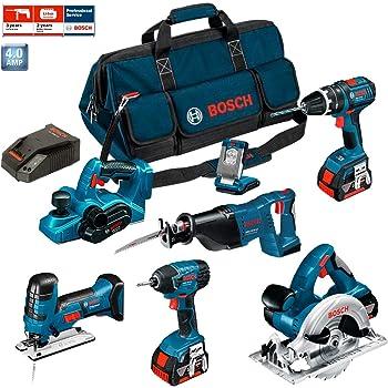 Bosch Kit PSB7WM3B Professional (GHO 18 V-Li + GSB 18 V-LI + GST 18 V-LI S + GDR 18 V-LI + GKS 18 V-LI + GSA 18 V-LI + GLI VariLED + 3 x 4,0Ah + LBAG)