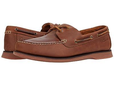 Clarks Port View (Mahogany Leather) Men