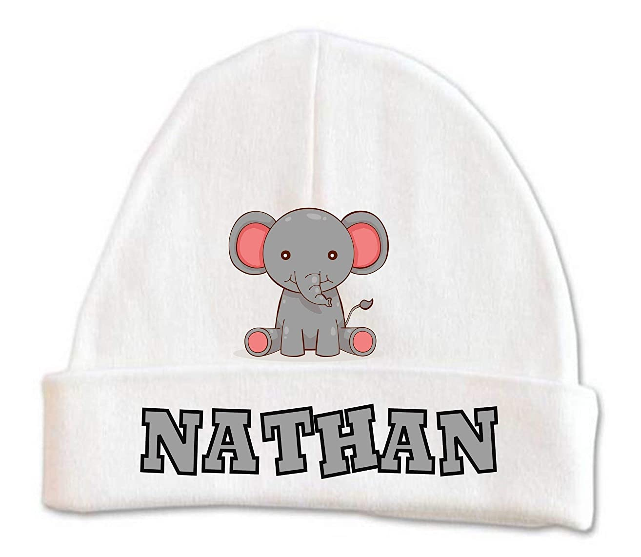 Cute Elephant Baby Beanie Hat Boys Winter Kids Warm Toddler Custom Infant Newborn Personalized 0-6 months