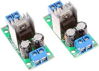 NOYITO Three-Terminal Regulator Power Supply Module LM7805 5V LM7812 12V Regulator Module 3A Rectifier Filter Power Converter (Pack of 2) (DC 12V)