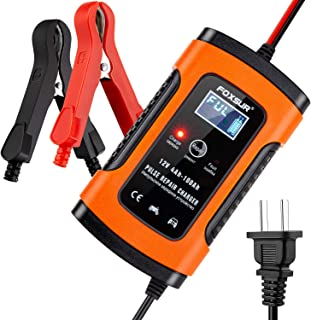 5 Amp 12V Automotive Smart Battery Charger/Maintainer for Car, Motorcycle, Lawn Mower, Boat, RV, SUV, ATV and More