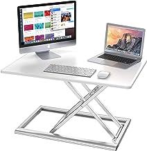 """Adjustable Standing Desk Converter, AboveTEK Compact Solid Aluminum Computer Riser, 30"""" Desktop Platform w/Smooth Air Assi..."""