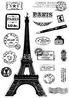 Ladaidra Paris Tower Transparent Silicone Clear Rubber Stamp Cling Diary DIY Scrapbooking