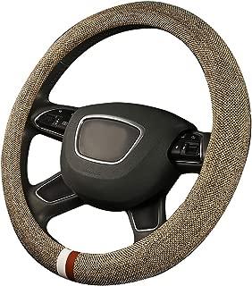 XiXiHao Winter Boho car Hand Wheel Cover Steering Wheel case for Women (Beige)