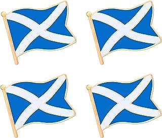 Scottish Scotland Flag Lapel Pin Decorations (4 Pack)