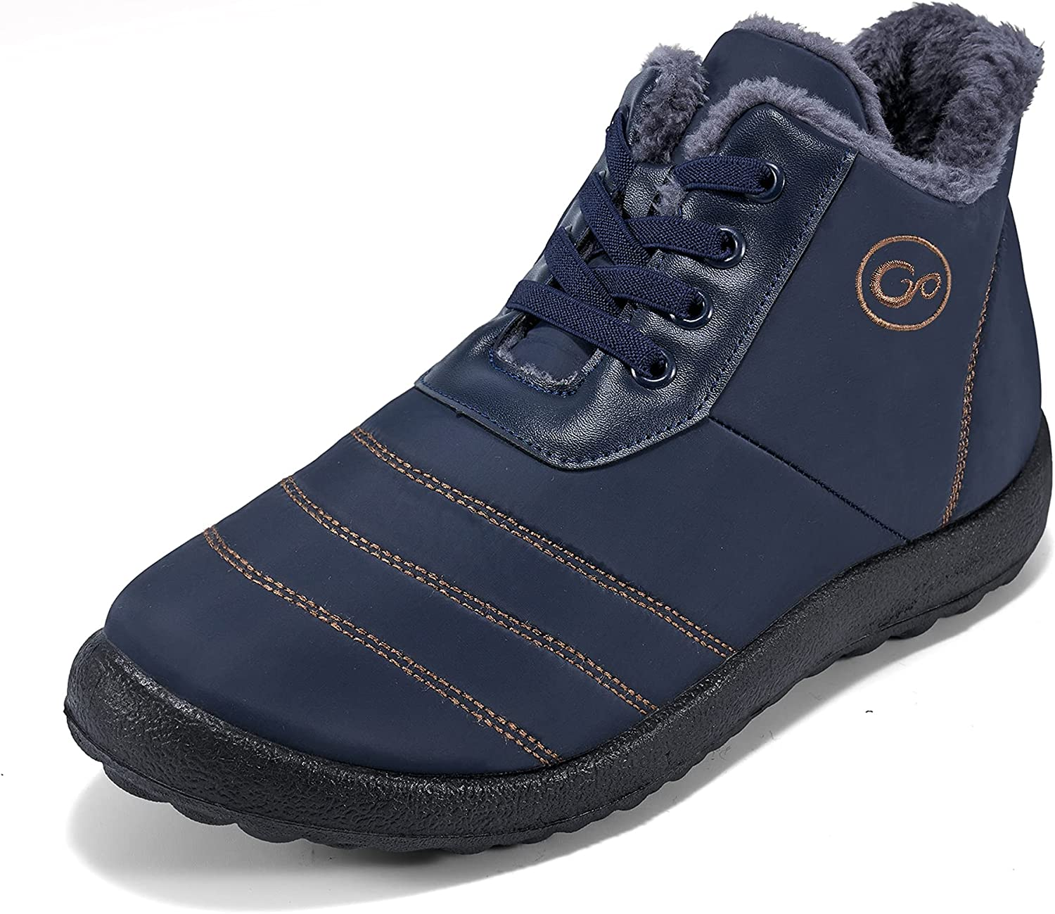 Mens Winter Snow Boots with Warm Lined Fashion Ankle Booties Comfort Fur Oklahoma City Mall