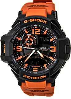 Casio G-Shock Gravitymaster Analogue/Digital Mens Black/Orange Watch GA1000-4A GA-1000-4ADR