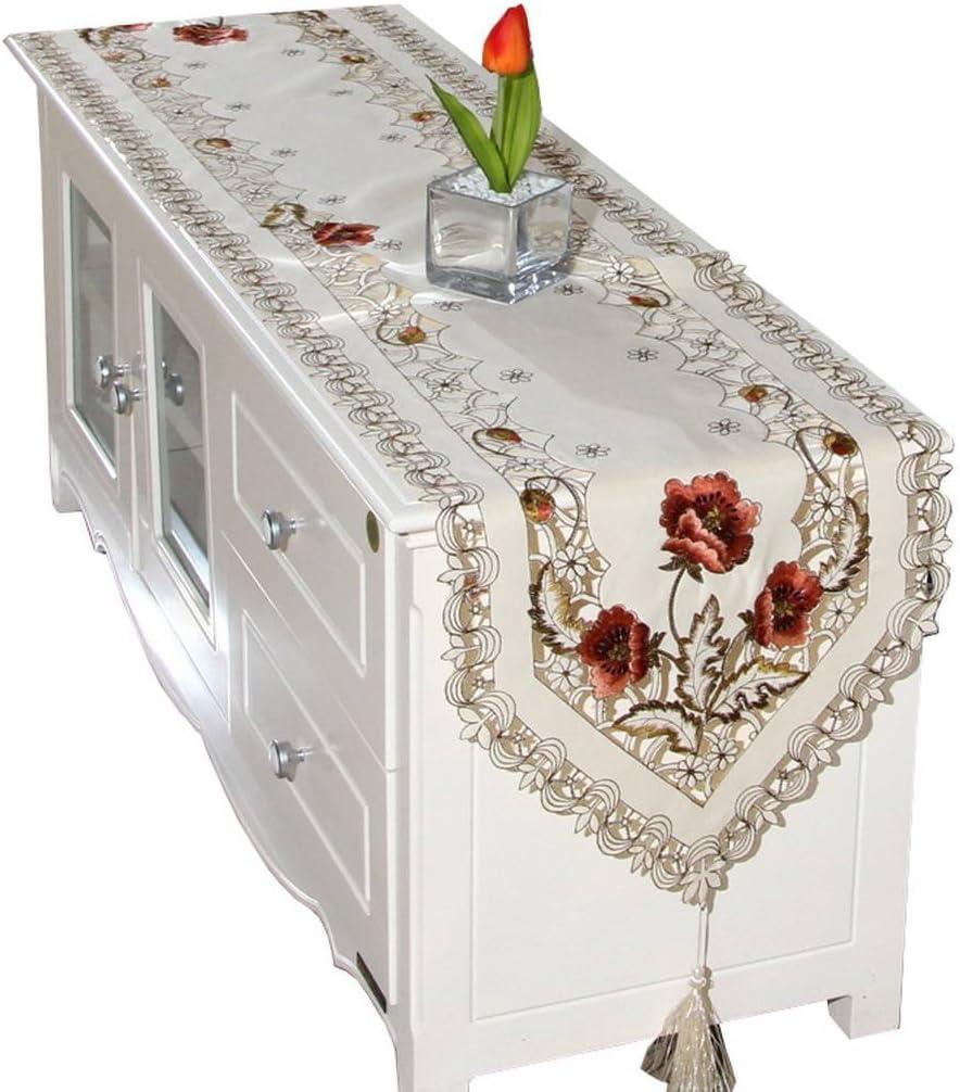 高品質 Jixin4you 40x176cm with Fringe Flower Embroidery Hollow Banquet 18%OFF