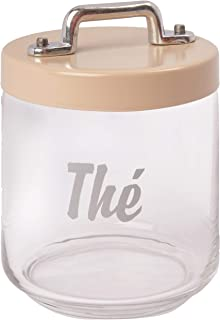Italo Ottinetti Glass Storage Jars with Hermetic Lid Beige 0.75 Litre Te, one Size