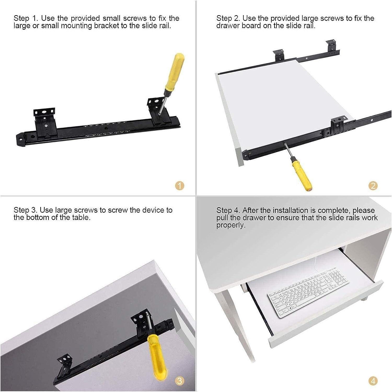 305mm Size : 12inch Heavy Duty Keyboard Shelf Runners Slide,55 Lb Load Capacity 12~18inch For Underdesk Keyword Platform Shelf Drawer With Height Adjustment 1029