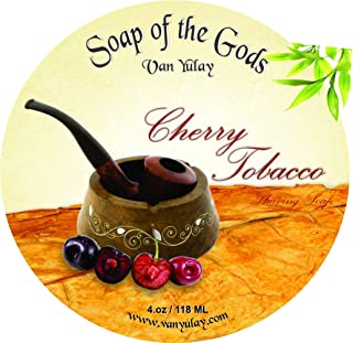 Cherry Tobacco Natural Shaving Soap Nourishing with Babassu Oil 4.0 oz