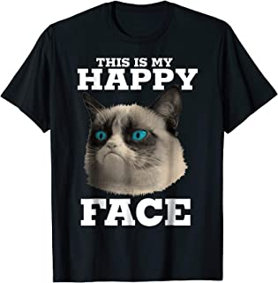 This Is My Happy Face Halftone Portrait T-Shirt