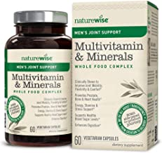 NatureWise Men's Whole Food Multivitamin with Joint Support | Vitamins, Minerals, Organic Whole Foods + UC-II Collagen Improves Joint Mobility & Comfort (Watch Video in Images) [1 Month - 60 Count]