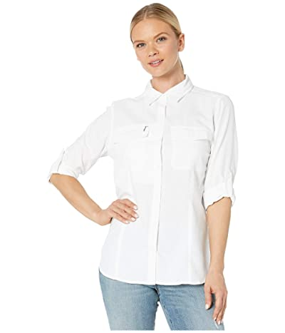 Royal Robbins Bug Barriertm Expedition Dry Long Sleeve Shirt (White) Women