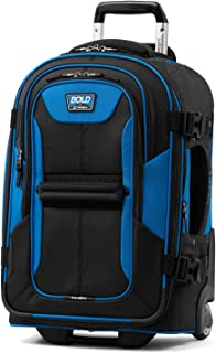 """Travelpro Bold 22"""" Expandable Carry-on Rollaboard Luggage With Easy-access Tablet Pocket, Blue/Black"""