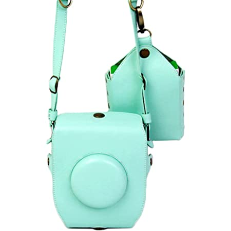 2-in-1 Mini Photo Accessories Camera PU Leather Carrying Case for Fujifilm instax Square SQ-10