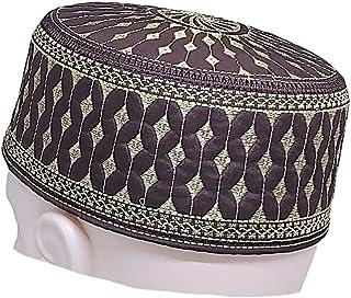 Designed Namaz Salah Cap Hat Topi with Embroidery