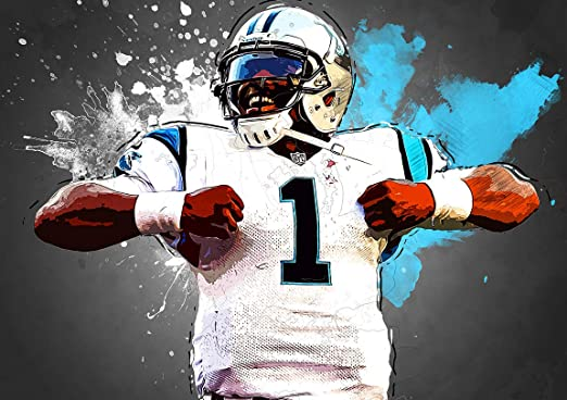 #34 CAM NEWTON Photo Quality Poster Choose a Size